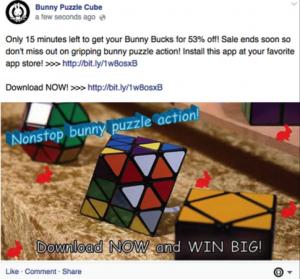Publicación comercial_Ejemplo de qué no hacer en Facebook para lograr alcance orgánico